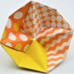Geometryczna miseczka origami we wzory - 4