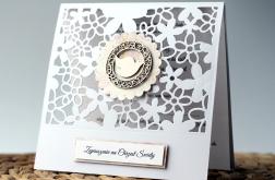 Ażurowe zaproszenia na Chrzest dziewczynka