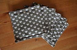 Zestaw 6 podkładek pod kubki - serduszka