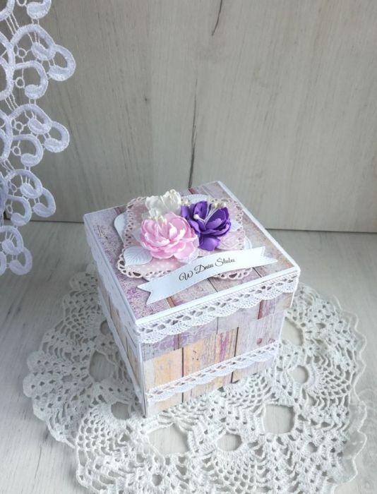 428529b23a1c33 Exploding box ślubny kwiaty, prezent ślubny - Lulaczkowo
