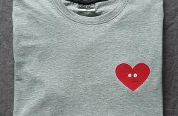 Koszulka ręcznie malowana serduszko