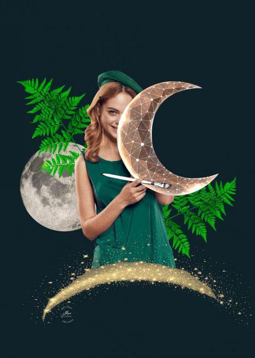 Kartka A5 Księżycowa dziewczyna