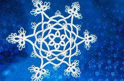 Śnieżynka RÓŻA gwiazdki FRYWOLITKA