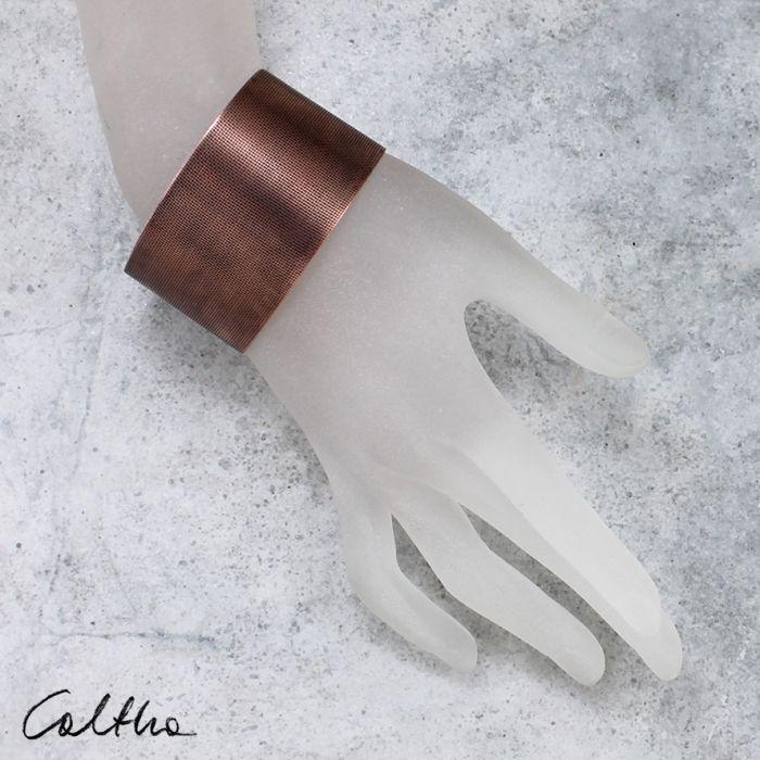 Płótno - miedziana bransoletka 151026-01