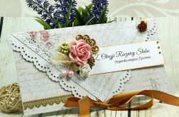 Kartka na rocznicę ślubu- różany zakątek