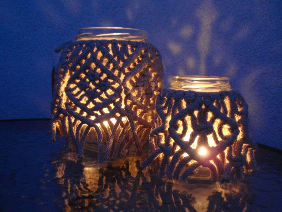 Lampiony makramowe zestaw