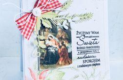 Kartki świąteczne bożonarodzeniowe 3 szt.
