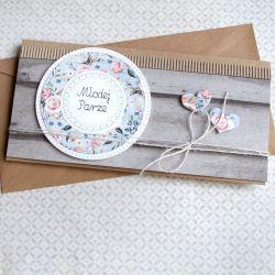 kartka - kopertówka ŚLUBNA :: rustic wood