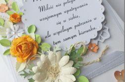 Ślubny Komplet z sentencją do Nowożeńców