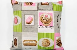 Francuska cukiernia różowa - poduszka