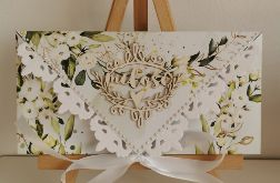 Kartka ślubna kopertówka kopertowa floral VII miłość
