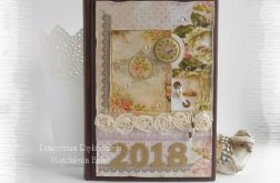 Kalendarz książkowy A5 vintage 2018