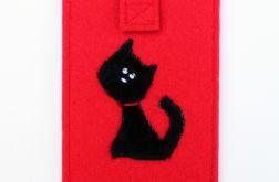 Etui na telefon z czarnym kotem