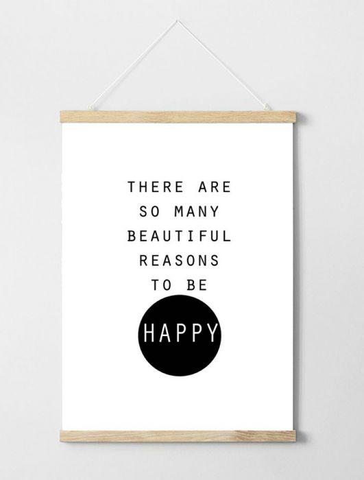 Plakat z hasłem Happy -
