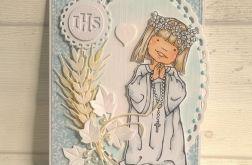 Kartka na komunię dla dziewczynki