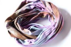 bawełniany ręcznie barwiony szal