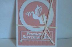 Pamiątka Bierzmowania -kartka różowa