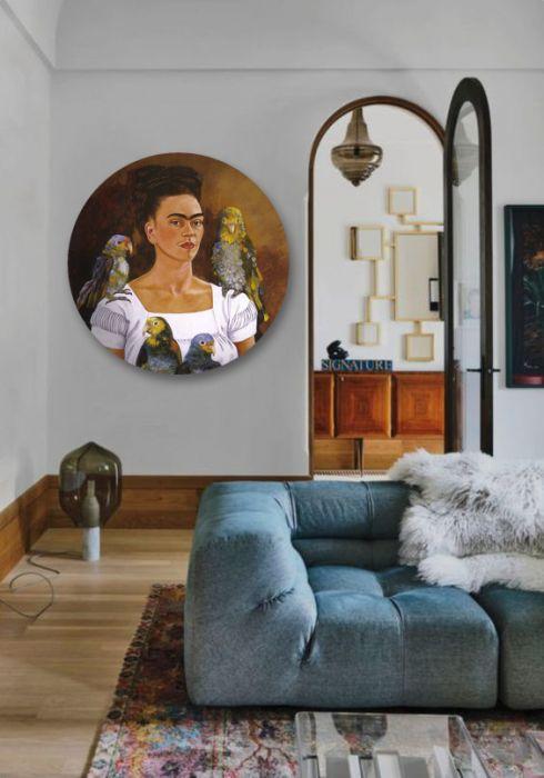 Frida - obraz w okrągłej ramię