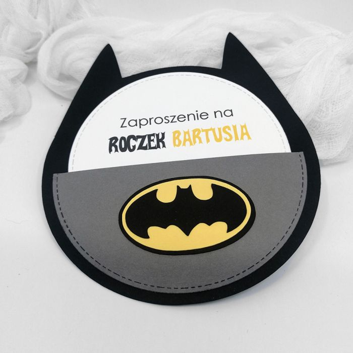 Zaproszenie na roczek Batman ZUD 012 - Zaproszenie na roczek Batman (3)