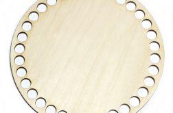 Baza do koszyka dno denko 10mm 15cm drewniana