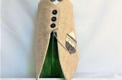 Garniturek na butelkę szary