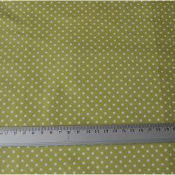 POLKA DOT - zielona/limonkowa w białe groszki/kropeczki.