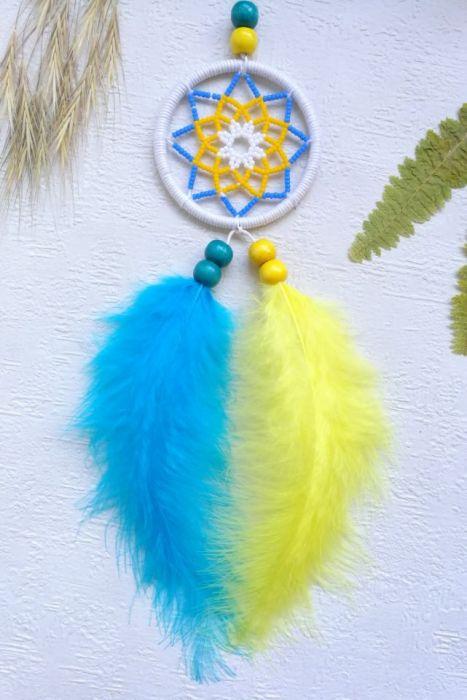 Koralikowy łapacz snów - koralikowa dekoracja