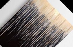 Abstrakcja-czerń ze złotem