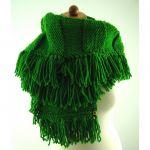 na prezent - zielony szal
