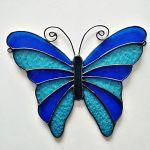 Zawieszka Zaczarowany Motyl Tiffany - w kolorach grantu i niebieskiego