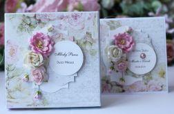 Kartka z pudełkiem - ślub kwiaty 2