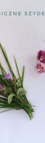 Fioletowe kolczyki z kwiatuszkami