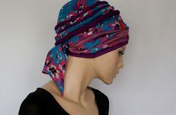 letni turban MAKOWY