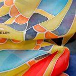 Jedwabny szal malowany ręcznie Nr.4