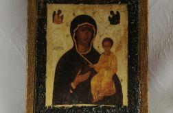 Ikona decoupage - Czarna madonna
