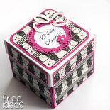 Exploding box urodzinowy z sówkami
