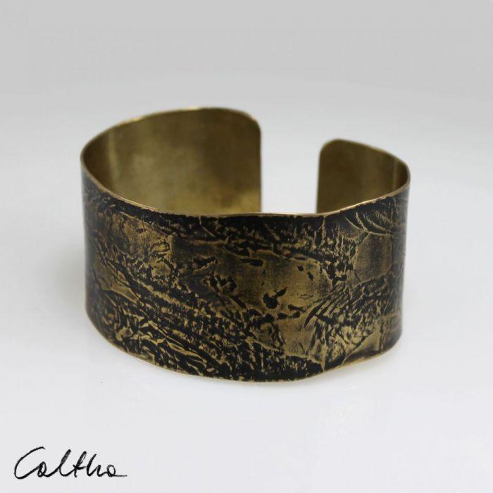 Rzeka - mosiężna bransoleta 151026-04 - Metalowa bransoletka