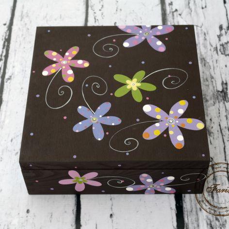 pudełko duże kwiatowe