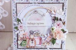 Kartka urodzinowa w pudełeczku Lady 1 GOTOWA