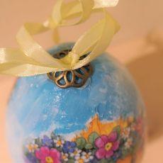 Jajko, pisanka, jajo wielkanocne z kaczuszką