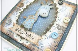 Kartka na urodziny z żyrafką 1