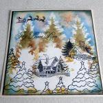 Zimowa kartka - Kartka na płasko