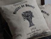 Moulins de Bouvet - poszewki w stylu vintage - haftowane