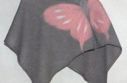 Ponczo dla dziewczynek z motylkiem 13