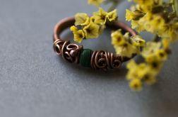 Gaia - pierścień z malachitem