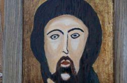 Ikona Jezusa w dębowej ramie