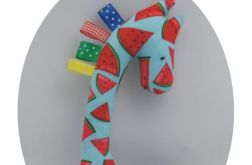 Żyrafka sensorek, przytulanka z metkami - Pikapu