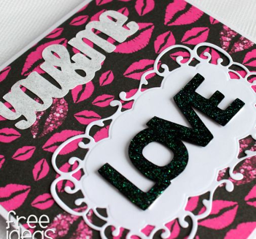 KOCHAM - Kartka Walentynkowa Usta KW024