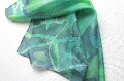 Jedwabna apaszka Zielone Rośliny
