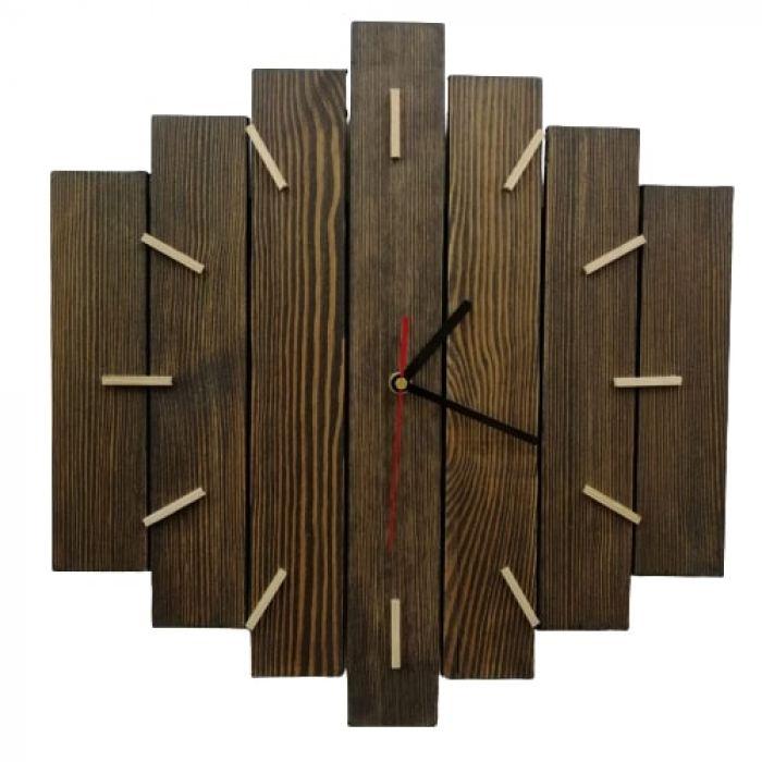 Zegar ścienny drewniany duży -